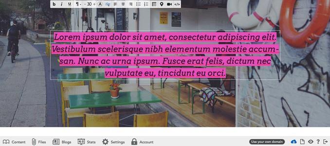 Editing text in Voog | Voog Review