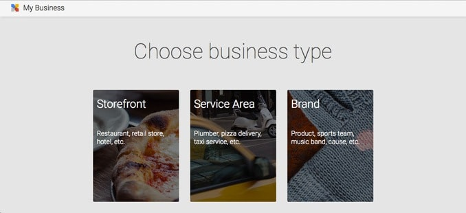 Choose the right business type in Google+