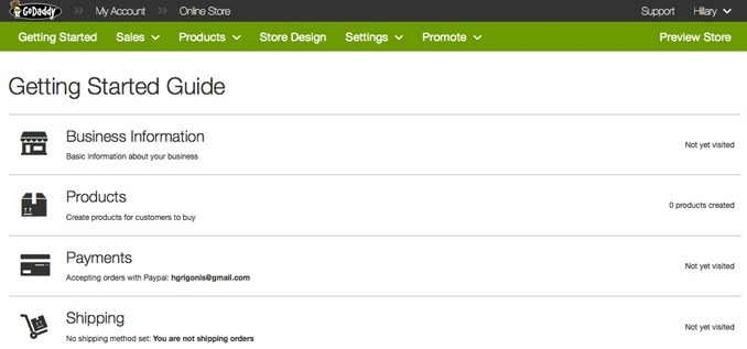 Getting Started with GoDaddy Online Store | GoDaddy Online Store Review