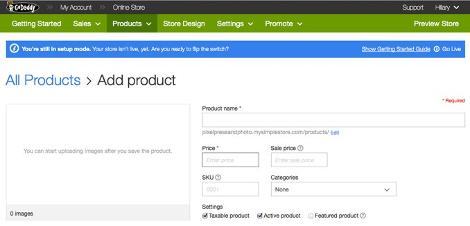 Adding Products to GoDaddy Online Store | GoDaddy Online Store Review