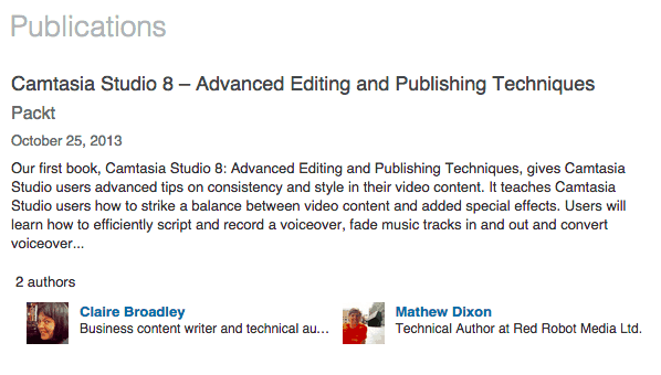 Example of a Publication on LinkedIn
