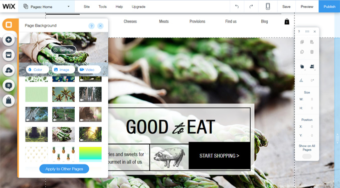 Editing the Design of Wix Templates | Wix Review