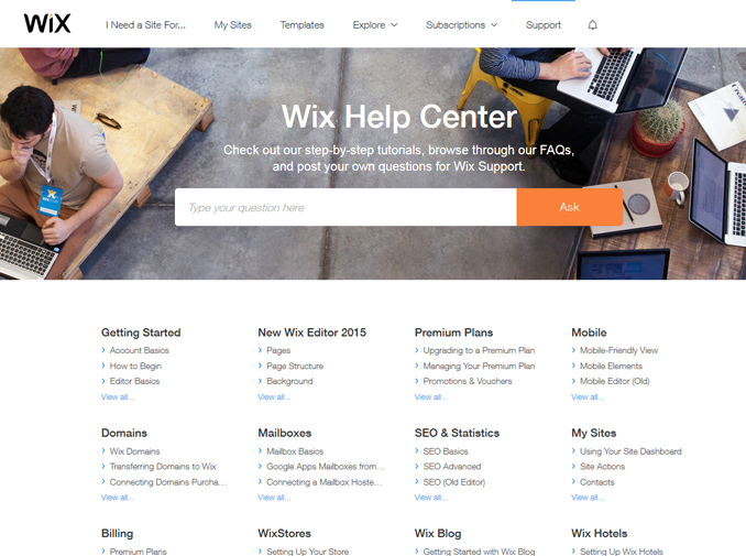 Help & Support with Wix | Wix Review