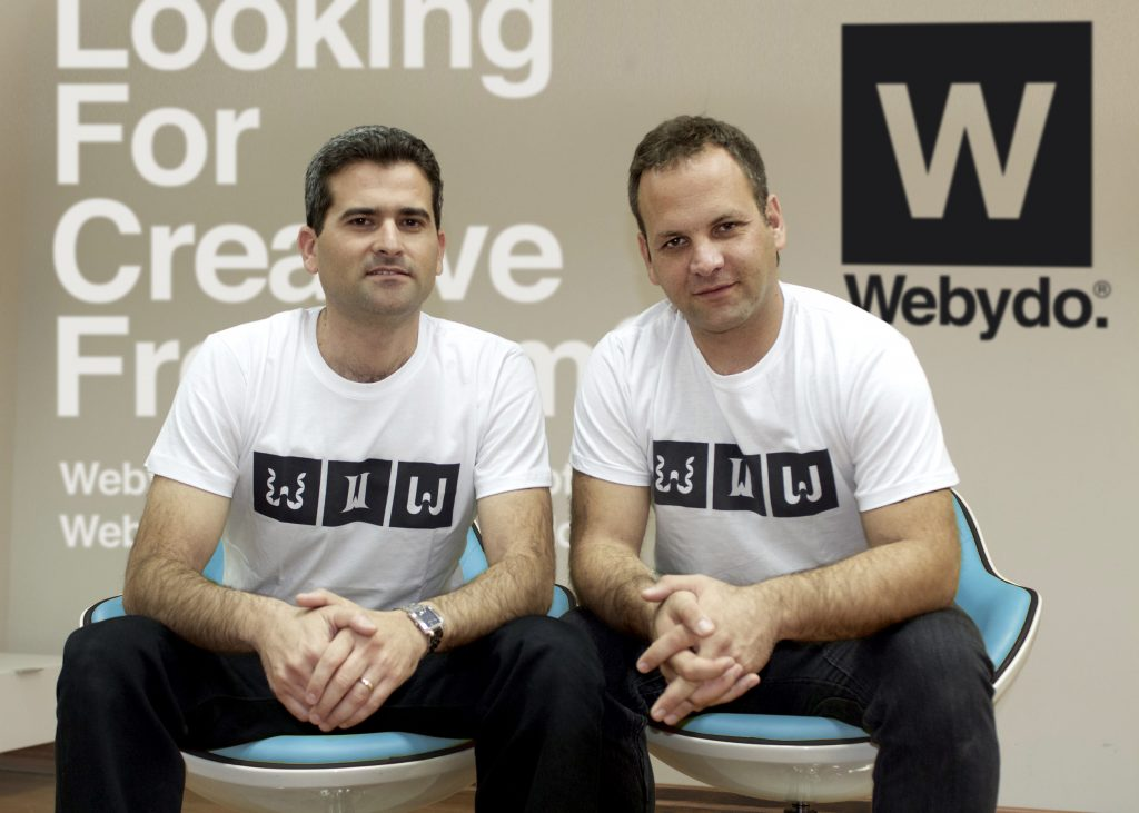 Webydo founders Tzvika Steinmetz and  Shmulik Grizim.